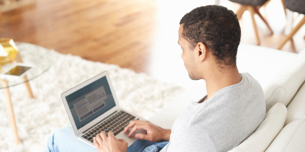 Employee on laptop