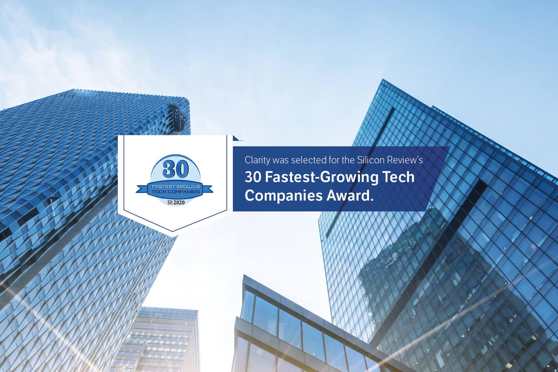 30 Fastest Growing Companies Award