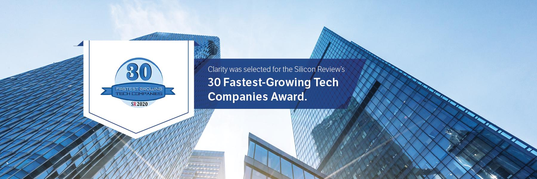 30 Fastest Growing Tech Award